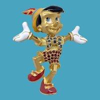 RARE Swarovski Disney Pinocchio Pin
