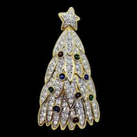 Retired Swarovski Crystal Christmas Tree Pin