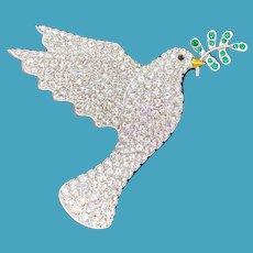 Swarovski Peace Dove Pin