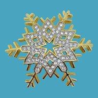 Swarovski Crystal Snowflake Pin