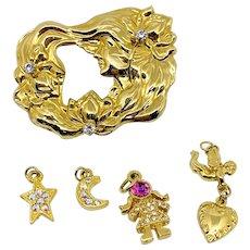 Kirk's Folly Art Nouveau Style Charm Pin