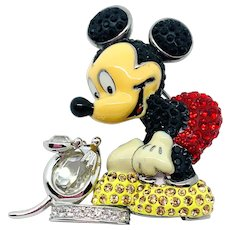 Swarovski Mickey Mouse Pin - Retired