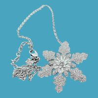 SWAROVSKI Snowflake Pin/Pendant Necklace