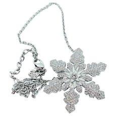 SWAROVSKI Snowflake Pin/Pendant Necklace