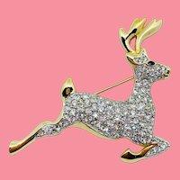 Swarovski Reindeer or Stag Pin