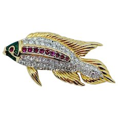 Swarovski Koi Fish Pin