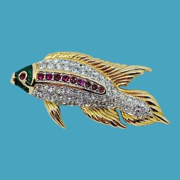 Swarovski Koi Fish Pin