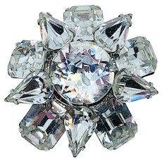 Sparkling KRAMER Snowflake Flower Pin