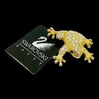 NOS Swarovski Savvy Frog Pin
