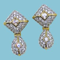 Gorgeous SWAROVSKI Crystal Rhinestone Drop Post Earrings