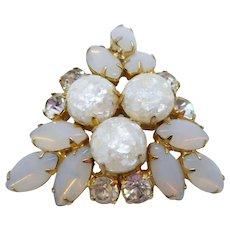 Faux Opal Confetti Lucite Pin