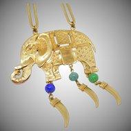 Big Elephant Pendant Necklace