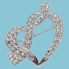 Sweet Swarovski Heart Pin