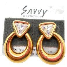 NOS Swarovski Savvy Earrings - MOC