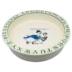 Vintage Baby Dish Alphabet Geese