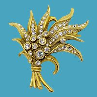 Swarovski Golden Bouquet Pin