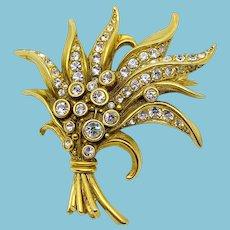 Swarovski Golden Bouquet Pin