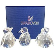 3 Swarovski Penguin Figurines