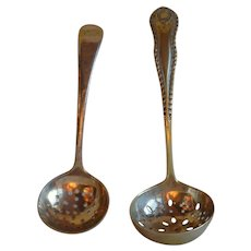 Two Serving spoon sugar sifters from the 1900's