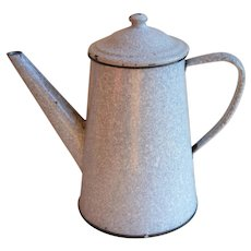 French enamel tea pot coffee pot from the 1960's