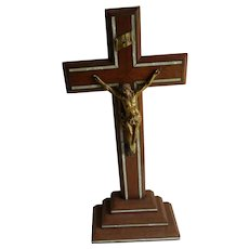 French vintage religious crucifix from the 1950's