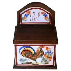 French Vintage salt box holder, sel box