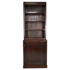 Modernist Art Deco Cabinet / Bookcase in Oak, France, circa 1930