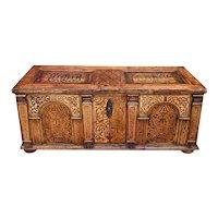 Antique Renaissance Austrian Inlaid Large Desk, 17th century, circa 1650