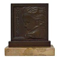 "Henri Dropsy ""Beethoven"" Bronze Medal, 1920s"