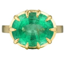 Columbian Emerald East-West Ring