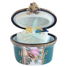 Welcome Baby Vintage Limoges Trinket Box