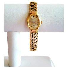 14k Ladies Croton Curb Link Bracelet Watch