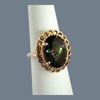 Statement Rainbow Mystic Topaz  Vintage 14K Ring