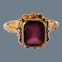 Art Nouveau Amethyst 10K Ring