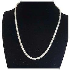 "Italian Sterling 18"" Byzantine Necklace"