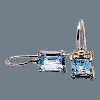 Sky Blue Topaz Sterling Drop Earrings