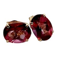 Estate Natural 3ct. Pink Sapphire 14K Earrings
