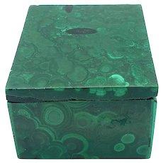 Gorgeous Polished Malachite Trinket Box