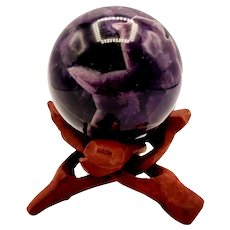 Fabulous Deep Purple Amethyst 1lb. Crystal Sphere