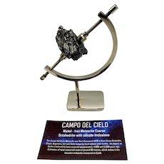 Campo del Cielo Meteorite Specimen with Display Stand