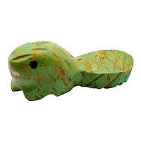 Zuni Serpentine Mini Beaver Pocket Fetish Carving