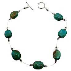 Turquoise Vintage Chunky Choker Necklace