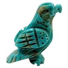 Zuni Turquoise Eagle Pocket Fetish Carving