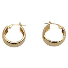 14K 5.5mm Wide Hoop Earrings