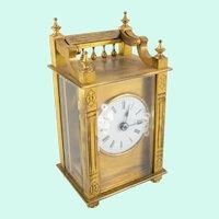 Antique Gilt Bronze Queen Anne Chelsea or Boston Carriage Clock