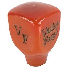Vintage Red Orange Bakelite Knob or Handle