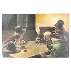 Dutch Style Oil Painting of a Game of Dice
