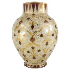 Opaline Glass Vase In Mughal or Persian Style