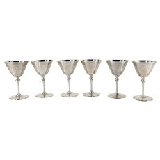 Set of 6 English Sterling Silver Dessert or Sherbet Cups