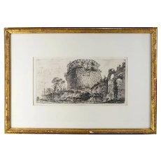 Giovanni Battista Piranesi Copper Plate Engraving Print